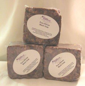 Raw African Black Soap Bar, 5.5 oz