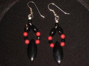 #1025--Black Onyx, Red Mountain Jade