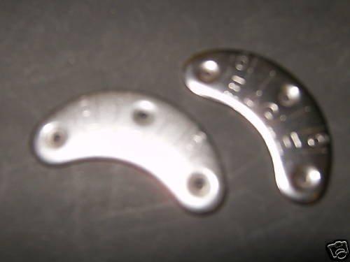 metal heel  & toe plates and nail, 4 total, shoe repair