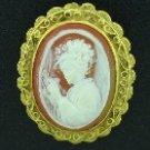 Vintage Cameo Framed Brooch BRO2062