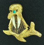 Walrus Figural Pin BRO2160
