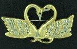 Butler Double Swan Figural Pin BRO2163