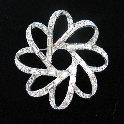 Swirling Flower Motif Brooch BRO2017