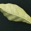 Trifari Gold Tone Leaf Brooch BRO2023