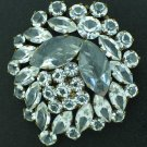 Large Japanned Style Metal and Glitzy Rhinestone Brooch BRO2070