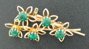 Emerald Green Rhinestone Posey Brooch Bro2025