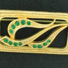 Vintage Unsigned Rectangular Shaped Rhinestone Brooch Bro2073
