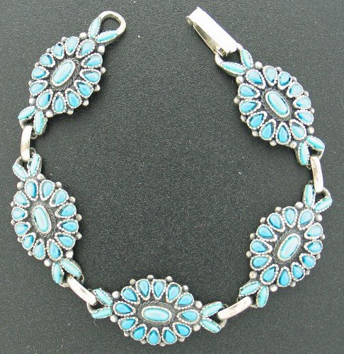 Florenta California South Western Style Bracelet with Faux Turquoise Bra2006