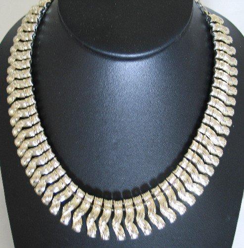 Coro Gold Tone Twist Necklace Nec2069