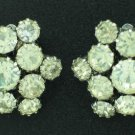 Clear Prong Set Rhinestone Cluster Earrings Ear2049