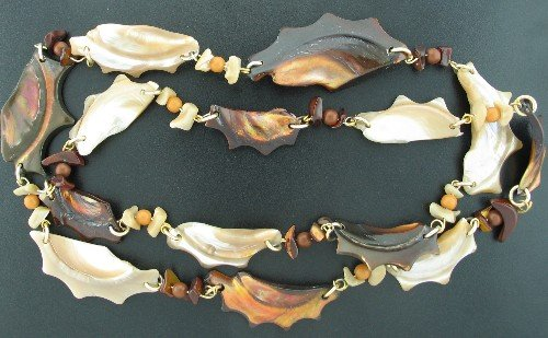 Funky Highly Polished Shell Necklace Nec2096