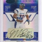 2006 Leaf Certified Mike Bell Mirror Blue RC Auto #43/100