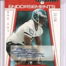 2006 Hot Prospects Brodrick Bunkley Red Hot Endorsements RC Auto #11/25