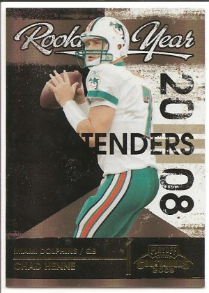 2008 Contenders Chad Henne Rookie of the Year Black #28/50