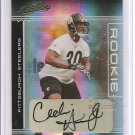 2006 Absolute Cedric Humes Rookie Auto #303/349 Pittsburgh Steelers