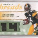 2008 UD Rookie Threads Limas Sweed Emerald Jersey #7/14