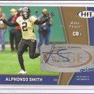 2009 Sage HIT Alphonso Smith Bronze Rookie Auto #150/250