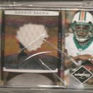 2008 Leaf Limited Ronnie Brown 3 Color Prime Patch #4/10