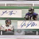 2007 Topps Co-Signers Jacob Jones/Yamon Figures Dual Rookie Auto