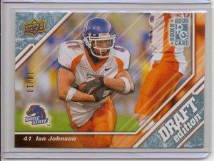 2009 UD Draft Ian Johnson Platnium Rookie #10/10