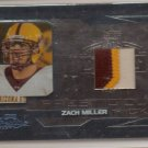 2007 Prestige Zach Miller Prestigious Picks Platnium 3 Color Patch #2/10