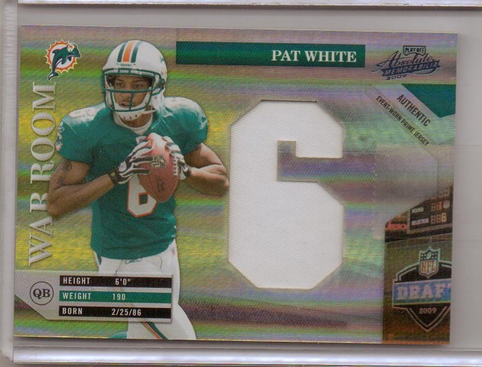 2009 Absolute Pat White War Room Jumbo Patch #20/25
