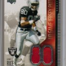 2004 UD Jerry Rice UD Game Jersey Patch Numbers