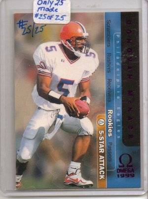 1999 Omega Donovan McNabb 5 Star Attack Purple #25/25 BV: $100