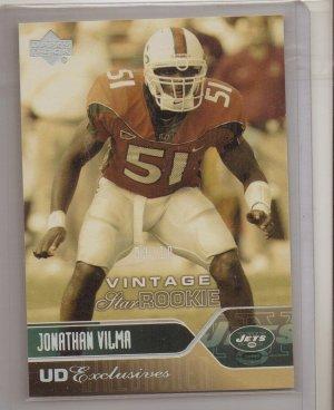 2004 UD Jonathan Vilma Exclusives Rookie #3/10