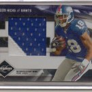 2009 Limited Hakeem Nicks Jumbo 2 Color Patch #10/10