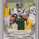 2010 Prestige Shonn Greene Rookie Review 2 Color Patch #17/50