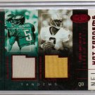 2002 Hot Prospects Donovan Mcnabb/Aaron Brooks Hot Tandems Dual Jersey #7/10