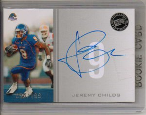 2009 Press Pass Jeremy Childs Silver Auto #55/199
