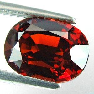 4.24ct Sparkling Red Orange Spessartite Garnet.