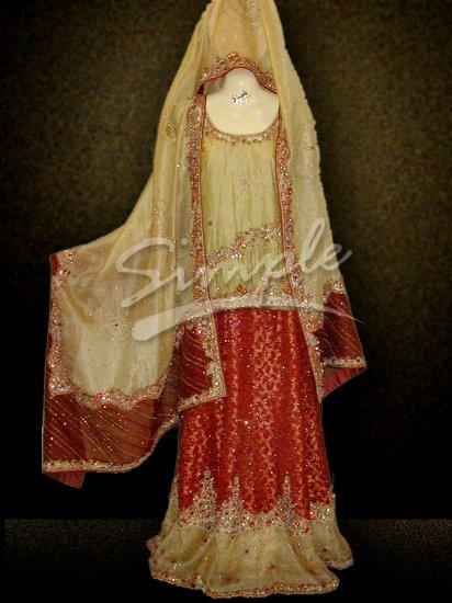 Maroon Wedding dress 040