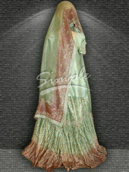 Green wedding dress 050