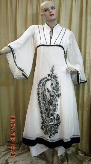 Black and White georgette 0120