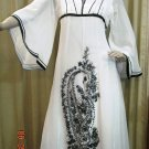 Black and White georgette 0120