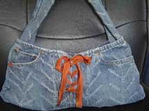Textured Lace Up Purse