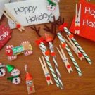 Candy cane reindeer ornament