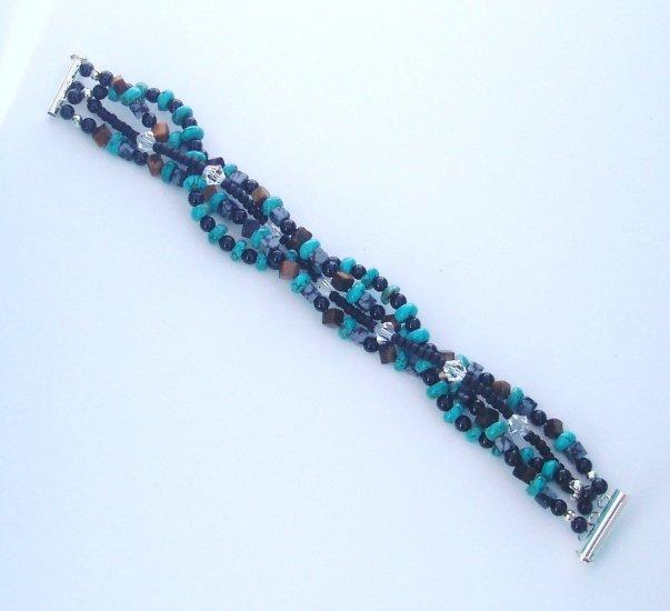 Midnight Ocean Mutli Strand Bracelet