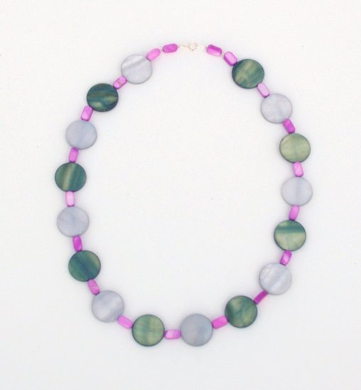 Mother of Pearl Polka Dot Necklace
