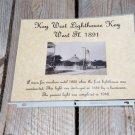 Historical 1891  Key West Lighthouse Photo and History Print.. Handmade