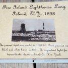Historical 1898 Fire Island Lighthouse Long Island NY Photo and History Print.. Handmade