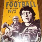 Official Collegiate Football Record Book 1972 Yr issue Sonny Sixkiller U of Washington on Cover