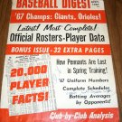 Baseball Digest April 1967 issue 67 Champs SF Giants and Baltimore Orioles on Cover