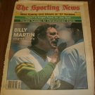 The Sporting News July 5, 1980 issue Billy Martin Oakland A's on Cover