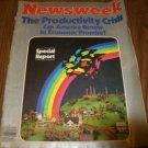 Newsweek Magazine September 8 1980 issue Productivity Crisis