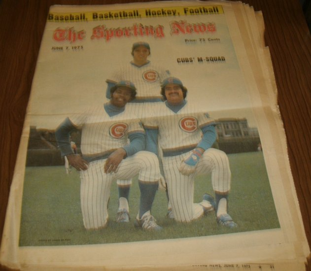The Sporting News June 7, 1975 issue Rick Monday Chicago Cubs