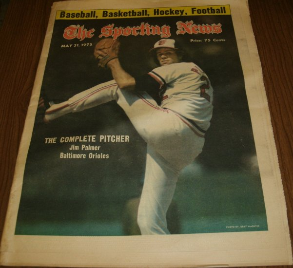 The Sporting News May 31, 1975 Jim Palmer Baltimore Orioles